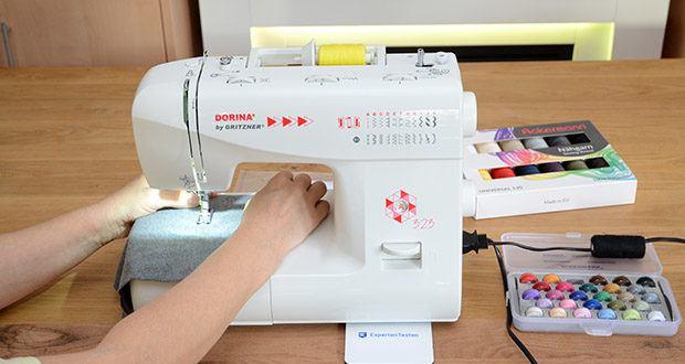 Gritzner Dorina Freiarm-Nähmaschine 323 im Test - mit 23 verschiedenen Nutz- und Zierstichen ausgestattet, eignet sie sich besonders für Anfänger, Einsteiger und Fortgeschrittene