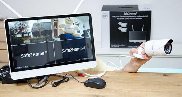 Safe2Home Funk Überwachungskamera Set im Test - POE Überwachungskamera Set mit 2x POE LAN FULL HD Kameras für innen und außen