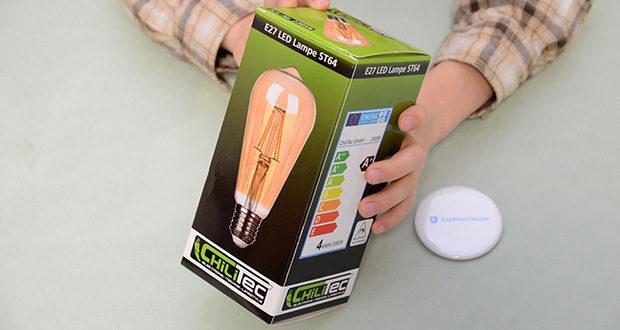 """Chilitec LED Glühlampe E27 """"Vintage ST64"""" im Test - Leistung 4W"""