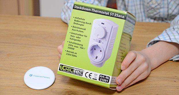 Chilitec Steckdosen-Thermostat ST-35 ana im Test - einfachste Bedienung durch Drehregler