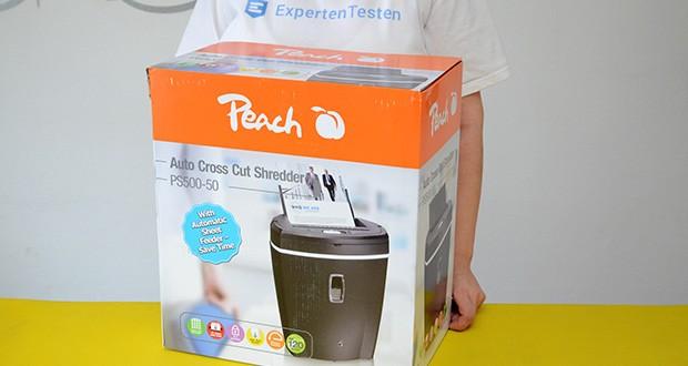 Peach Altenvernichter PS500-50 im Test - vernichten Sie Ihr Vertrauliches sicher und einfach