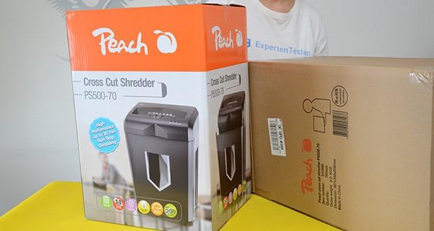 Peach Altenvernichter PS500-70 im Test - Garantie: 3 Jahre auf das Gerät und 10 Jahre auf Schneidwerk