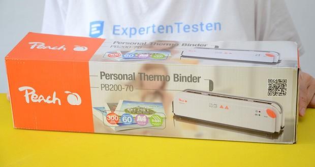Peach Thermobindegerät PB200-70 im Test - einfachstes und schnellstes Bindesystem
