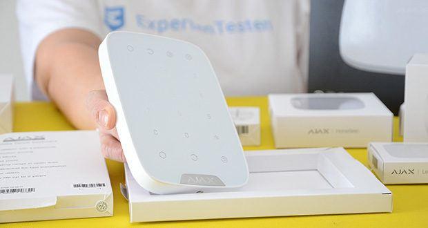 Ajax Alarmanlage im Test - kabelloses Tastenfeld für das Sicherheitssystem