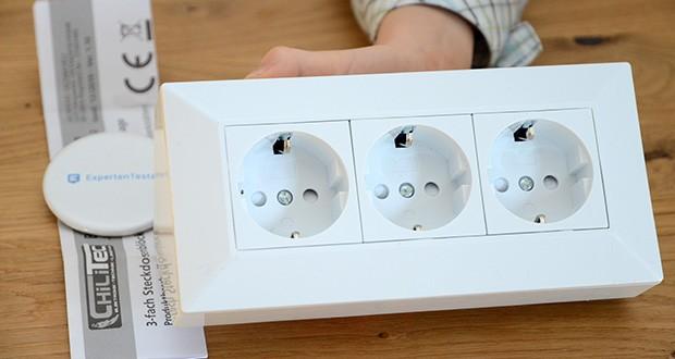 Chilitec 3-fach Steckdosenblock im Test - ideal für Montage z.B. auf der Arbeitsplatte in der Küche, in Werkstätten etc.