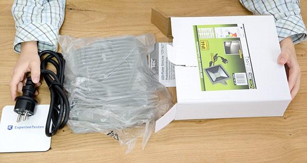 Chilitec LED-Fluter SlimLine CTF-SLT30 im Test - durch Betrieb mit 230V Wechselspannung ideal für den Einsatz in der Industrie und/oder Privatbereich
