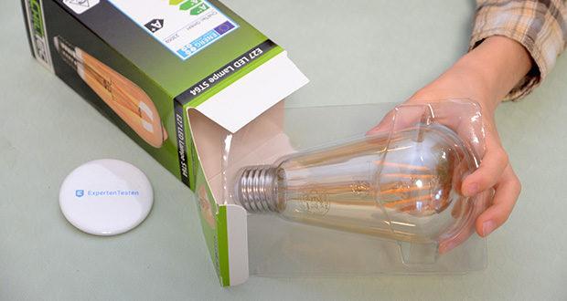 """Chilitec LED Glühlampe E27 """"Vintage ST64"""" im Test - Sockel E27, Spannung 230V/50Hz"""