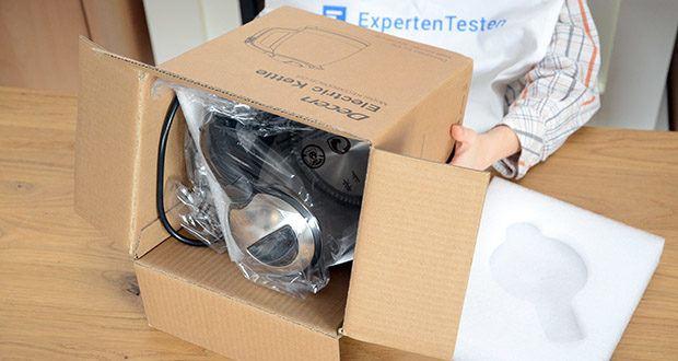 DECEN Glaswasserkocher mit Temperatureinstellung im Test - 5 Temperaturregelung und LED-Anzeigelampe einstelle
