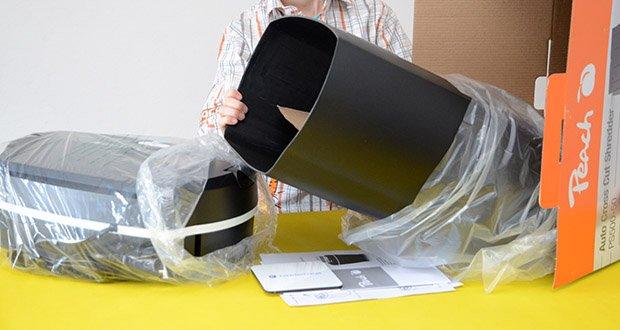 Peach Altenvernichter PS500-50 im Test - großer Auffangkorb mit 21 Liter für 120 Seiten