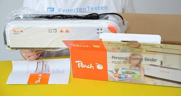 Peach Thermobindegerät PB200-70 im Test - Produktabmessungen: 42 x 10.5 x 11.5 cm; Gewicht: 950 Gramm