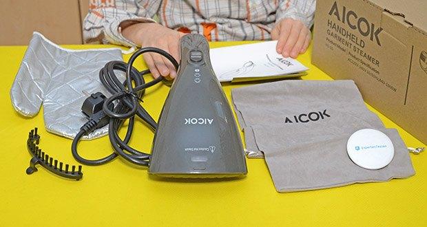 Aicok Dampfglätter Reisebügeleisen im Test - ergonomisches Design und einfache Bedienung machen die Bedienung einfach und angenehm