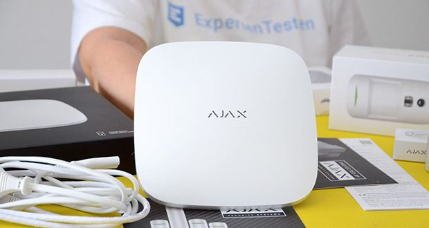 Ajax Alarmanlage im Test - Hub 2 Plus ist eine intelligente Zentraleinheit für das Ajax Sicherheitssystem mir erweiterten Kommunikationsfähigkeiten und Unterstützung für die Fotobestätigung von Alarmen