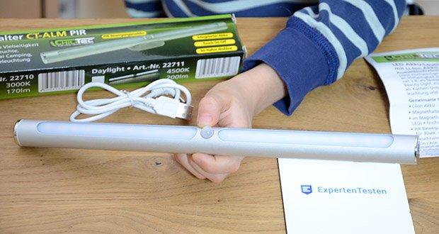 Chilitec LED Akku-Leuchte im Test - hochwertiges Aluminium-Gehäuse