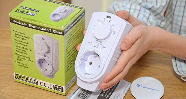 Chilitec Steckdosen-Thermostat ST-35 ana im Test - Umschaltbar für Heiz- oder Kühlgeräte