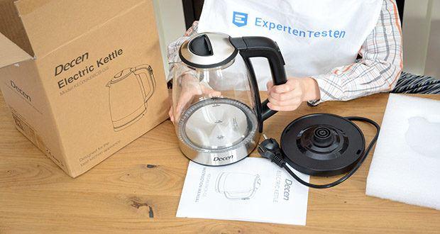 DECEN Glaswasserkocher mit Temperatureinstellung im Test - Warmhaltefunktion: 2 Stunden
