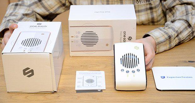 ONE SANTI Ultraschall Schädlingsbekämpfer im Test - ist neben der hochwertigen Platine auch ein kraftvoller 360 Grad Lautsprecher verbaut - so gelangen die Frequenzen in jede Ecke deines Hauses