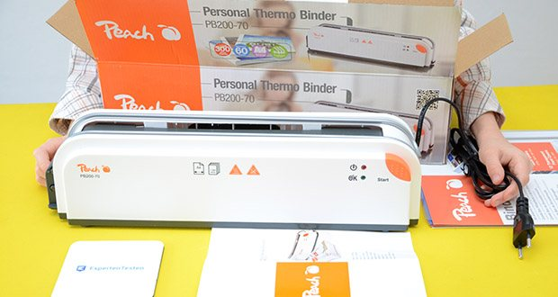 Peach Thermobindegerät PB200-70 im Test - beim thermischen Bindesystem von Peach handelt es sich um ein modernes Klebebindeverfahren