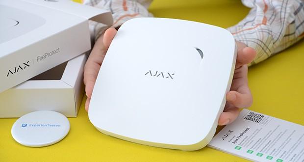 Ajax Alarmanlage im Test - kabelloser Rauchwarnmelder (Kohlenmonoxidmelder) - Schutz vor Feuer, Rauch und Kohlenmonoxid
