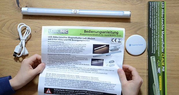Chilitec LED Akku-Leuchte im Test - PIR Bewegungsmelder, schaltet bei Erkennung für 30sek. ein