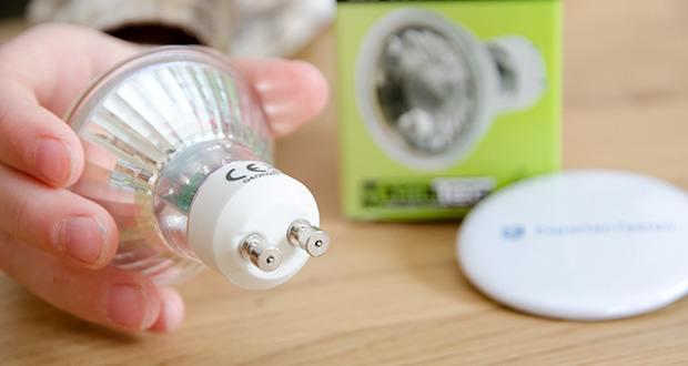 Chilitec LED Strahler GU10 H50 COB+ im Test - Spannung 230V/50Hz, Leuchtdauer 30.000 Std., Leuchtwinkel 36°