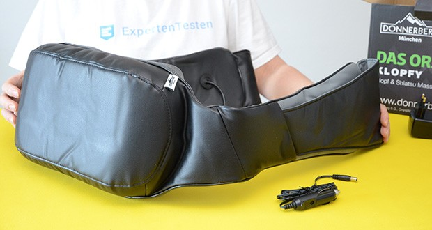 Donnerberg Klopfy NM-088 Nackenmassagegerät im Test - Material: PU-Leder; Leistung: 36 W; Kabellänge: 2,8 m
