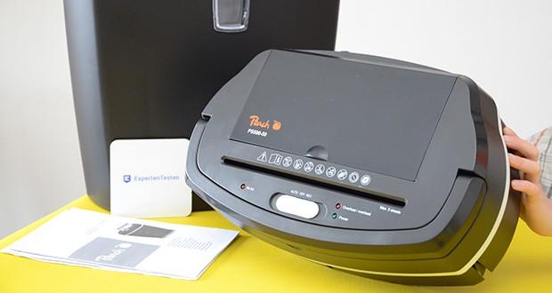 Peach Altenvernichter PS500-50 im Test - ein Schalter mit drei benutzerfreundlichen Funktionen: Auto - Aus - Rückwärtslauf