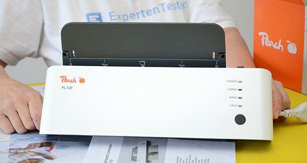 Peach Laminiergerät PL120 im Test - max. Arbeitsbreite 230mm