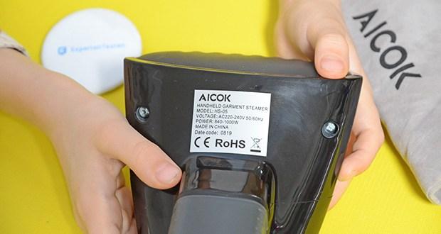 Aicok Dampfglätter Reisebügeleisen im Test - bequem zu tragen, leicht zu transportieren, unverzichtbar für Geschäftsreisen