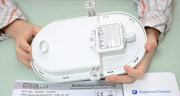 Chilitec LED Oval-Armatur FRL-O 12 im Test - Verbrauch / 1000 Std. 12kWh
