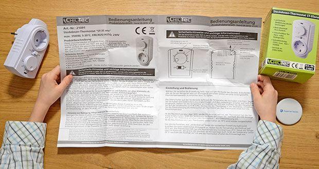 Chilitec Steckdosen-Thermostat ST-35 ana im Test - mit Temperatur Einstellung