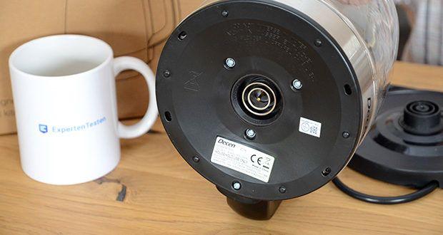 DECEN Glaswasserkocher mit Temperatureinstellung im Test - 2200W elektrischer Teekessel
