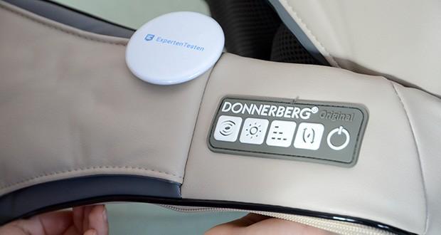 Donnerberg Original Premium NM089 Nackenmassagegerät im Test - das Bedienfeld mit 5 optimalen Grundfunktionen (teilweise mit Zusatzfunktionen) lässt sich einfach und mit kurzem Druck an den Tasten bedienen