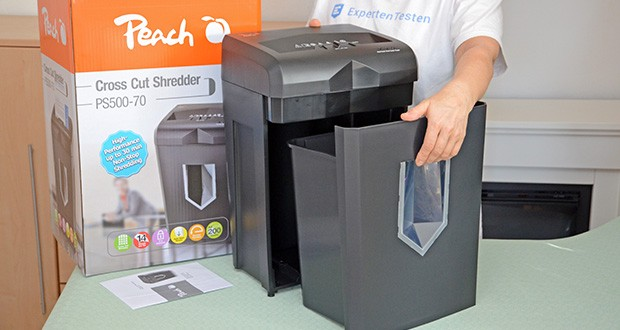 Peach Altenvernichter PS500-70 im Test - dank dem ausziehbaren Auffangbehälter, wird das Entleeren noch einfacher