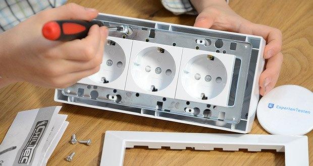Chilitec 3-fach Steckdosenblock im Test - Metall-Innenrahmen zur Versteifung