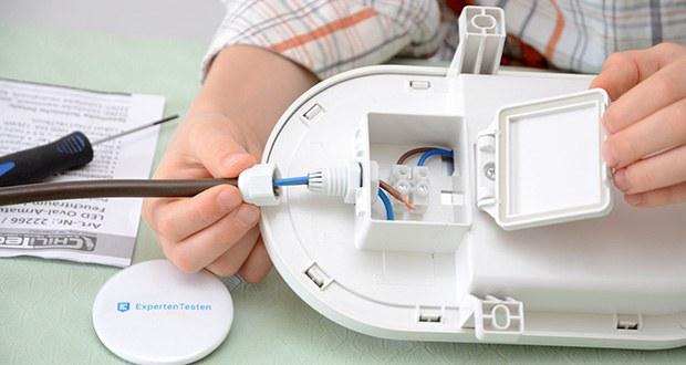 Chilitec LED Oval-Armatur FRL-O 12 im Test - Betrieb an 230V/50Hz