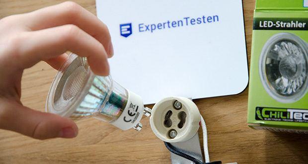 Chilitec LED Strahler GU10 H50 COB+ im Test - Energieeffizienzklasse A+, Verbrauch / 1000h 5kWh
