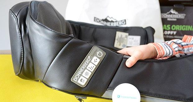 Donnerberg Klopfy NM-088 Nackenmassagegerät im Test - das Bedienfeld mit 5 optimalen Grundfunktionen lässt sich einfach und mit kurzem Druck an den Tasten bedienen