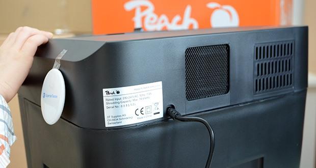 Peach Altenvernichter PS500-70 im Test - Produktabmessungen: 37 x 28.5 x 53.5 cm; Gewicht: 8.6 kg