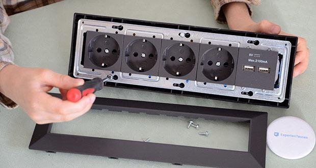 Chilitec 4-fach Steckdosenblock + 2x USB im Test - geeignet für vertikale & horizontale Montage