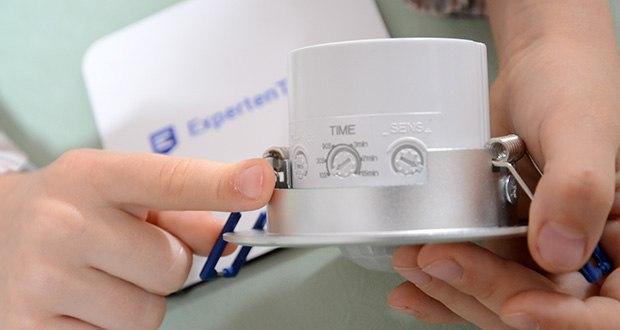Chilitec Bewegungsmelder Decken-Einbau im Test - Empfindlichkeit einstellbar; Schaltdauer einstellbar 10sek bis 15min