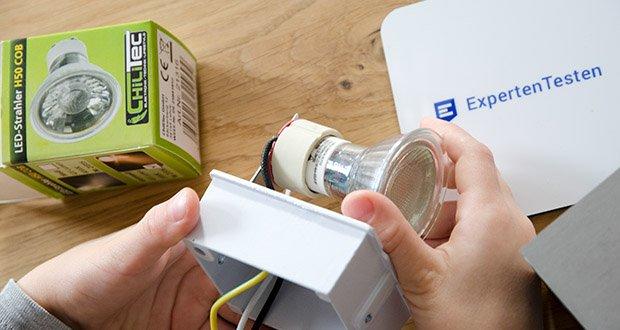 Chilitec LED Strahler GU10 H50 COB+ im Test - strahlende 400-420 Lumen sind eine gute Alternative für eine konventionelle 40-45W Lampe