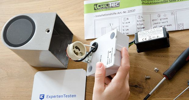 Chilitec LED-Wandleuchte CTW-1 im Test - 1-flammig max. 35Watt