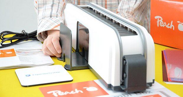Peach Thermobindegerät PB200-70 im Test - bis zu 10 Mappen 30 Blatt gleichzeitig binden und damit Zeit sparen