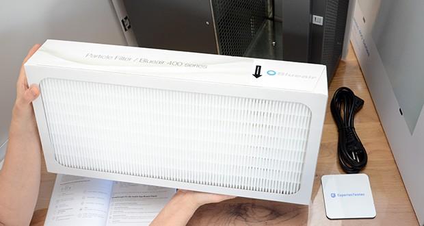 BLUEAIR Luftreiniger Classic 480i im Test - Filtert Partikel > 0,1µm, Feinstaub, Bakterien, Schimmel, Pollen, Lösungsmittel, Gerüche, Wohngifte