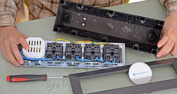 Chilitec 4-fach Steckdosenblock + 2x USB im Test - Steckdosen im Inneren bereits vorverkabelt