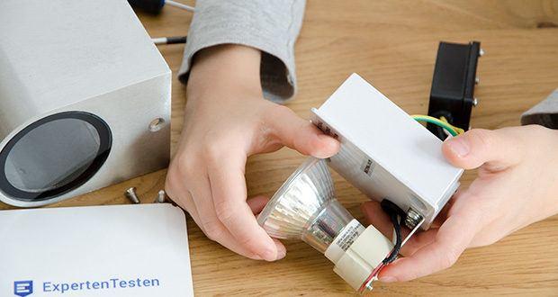 Chilitec LED Strahler GU10 H50 COB+ im Test - darüber hinaus bietet diese LED-Lampe mit einem Abstrahlwinkel von 36° eine optimale Lichtausbreitung fast gleichzusetzen mit klassischen Halogenlampen