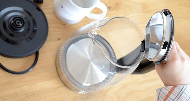 DECEN Glaswasserkocher mit Temperatureinstellung im Test - 90° Öffnung und Glaskörper erleichtern die Reinigung
