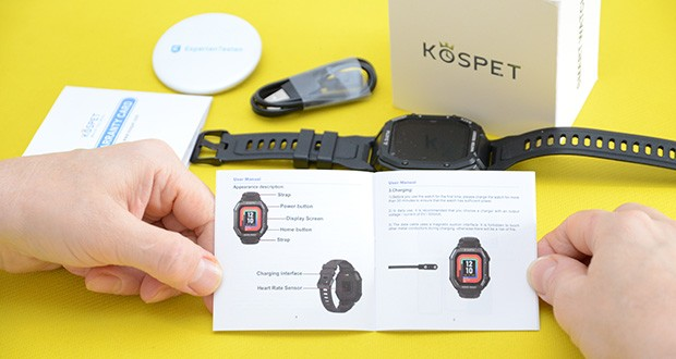KOSPET Rock Smartwatch im Test - Sie können KOSPET Rock in bis zu 30 m tiefes Wasser eintauchen