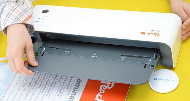 Peach Laminiergerät PL120 im Test - max. Dicke des Laminiergutes: 0.5 mm