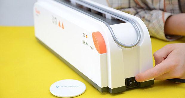 Peach Thermobindegerät PB200-70 im Test - nach ca. drei Minuten Aufwärmzeit ist das Gerät startklar